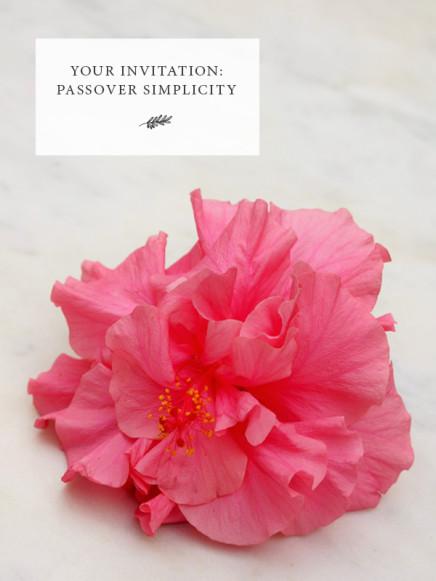 Passover Simplicity