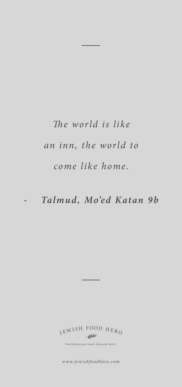 Comforting Jewish Quotes on Home - Talmud Mo'ed Katan 9b, Gray