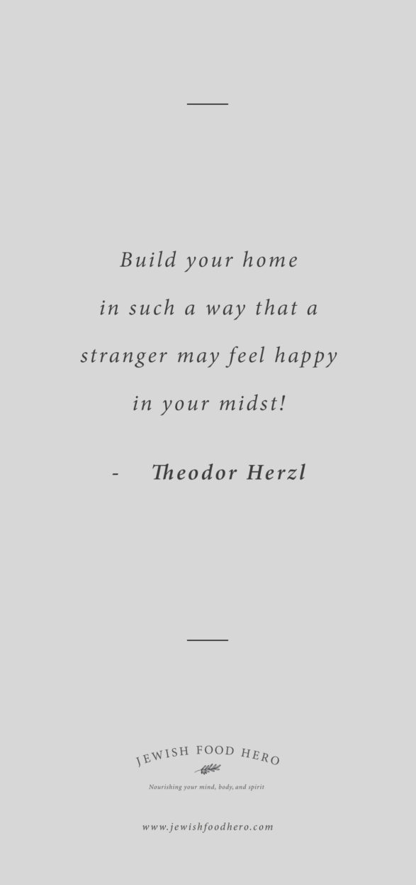 Comforting Jewish Quotes on Home - Theodor Herzl, Gray