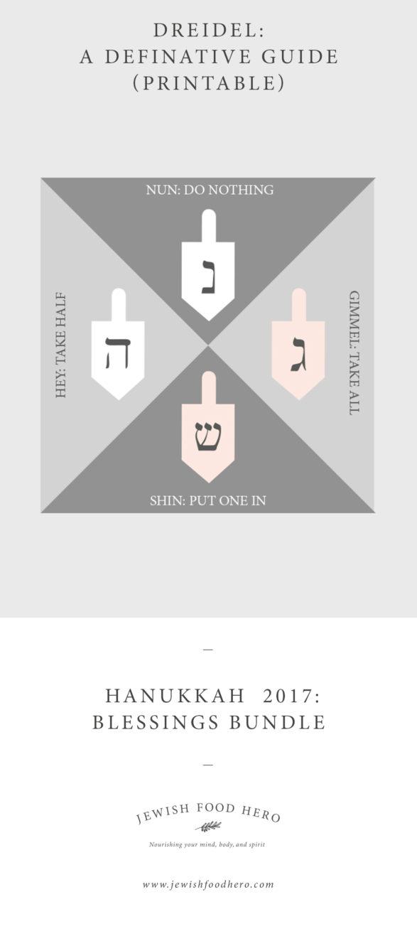 Hanukkah Blessings Bundle - Dreidel