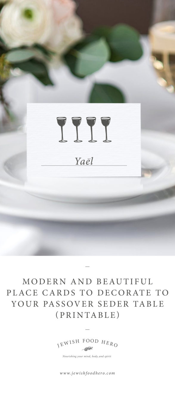 Passover Place Cards
