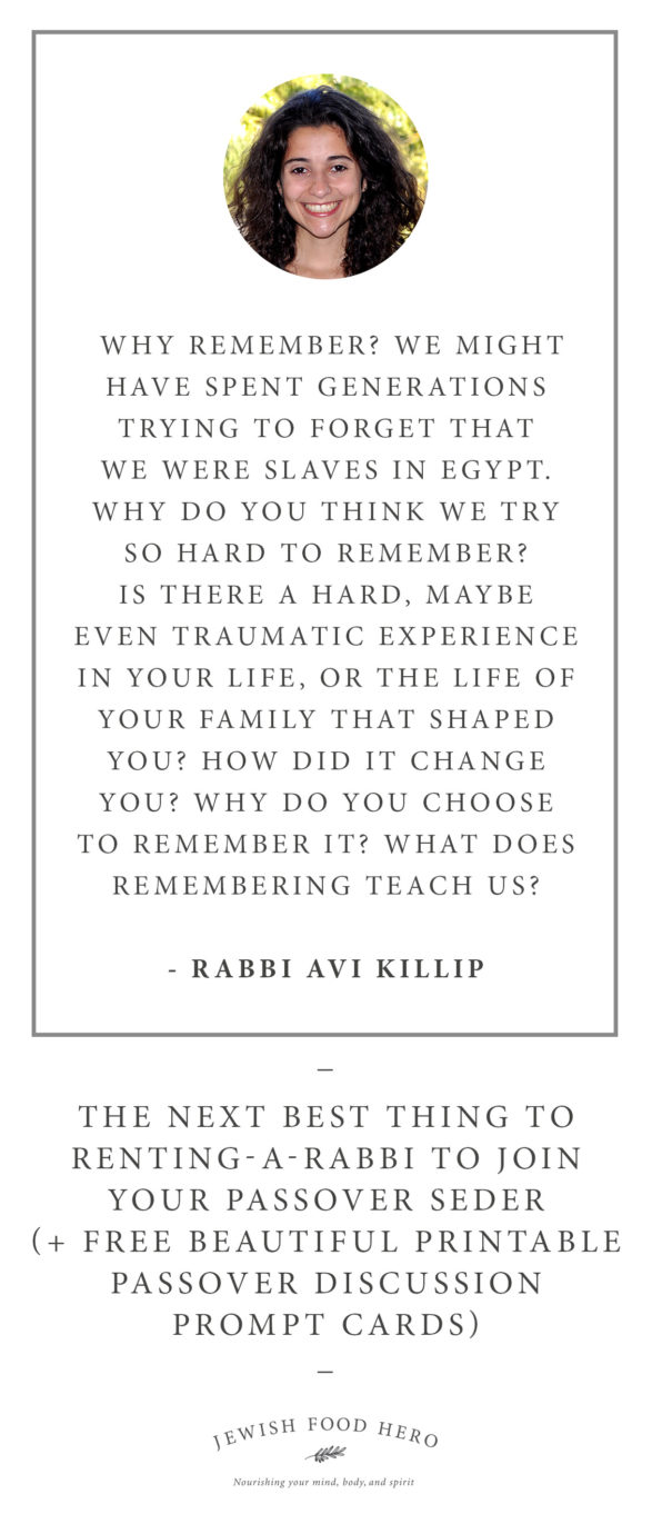 Passover Discussion Prompt Cards - Avi Killip