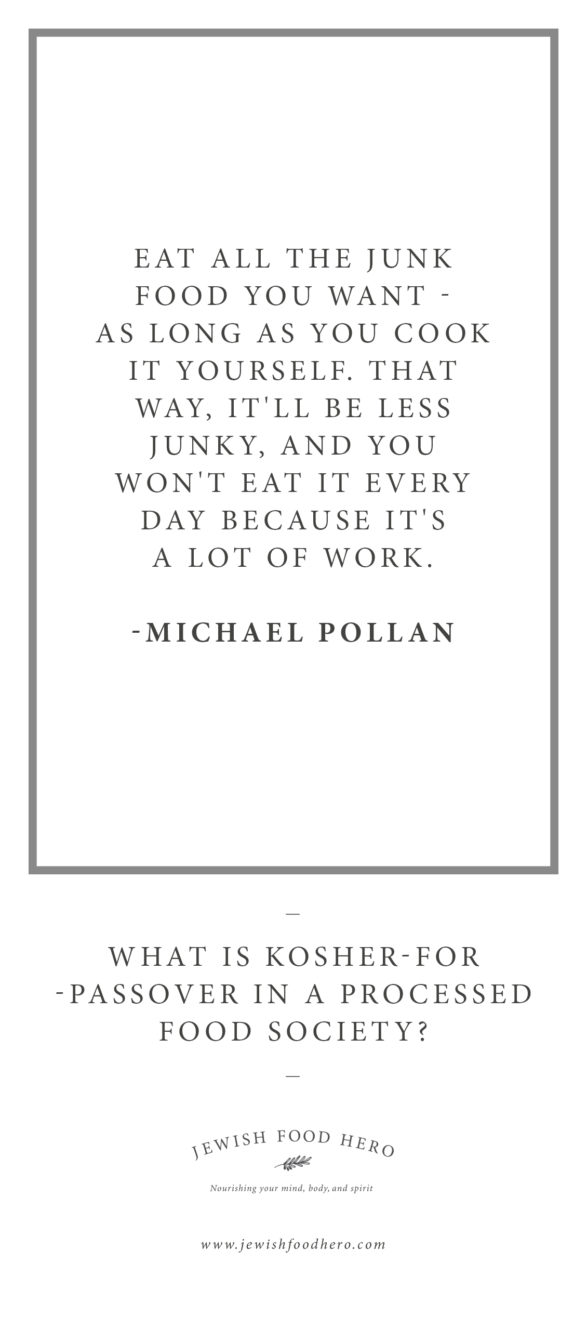 kosher for passover quote pin