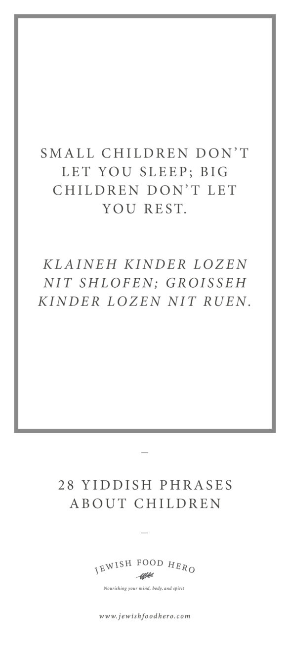 28 Yiddish Phrases About Children