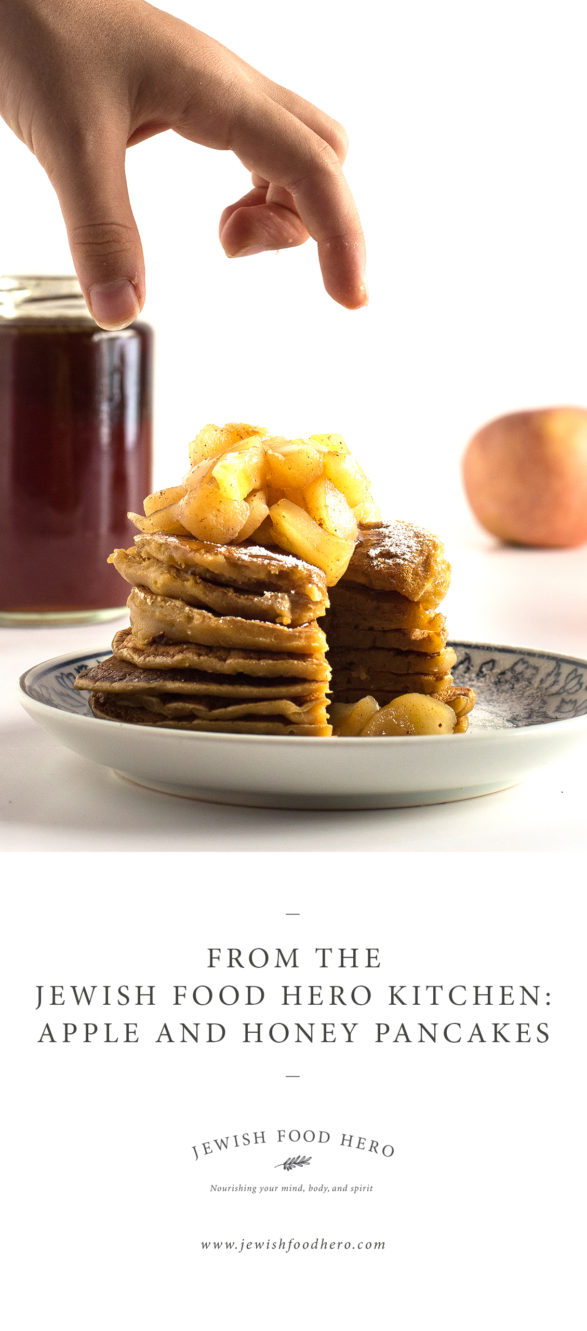 Vegan Apple and Honey Pancakes for Rosh Hashanah