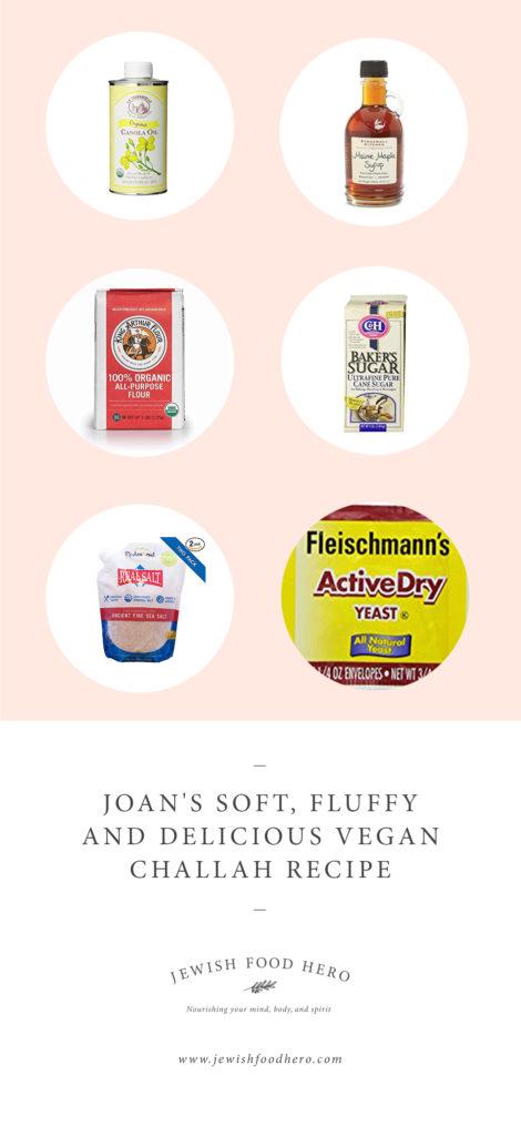 Ingredients for Vegan Challah