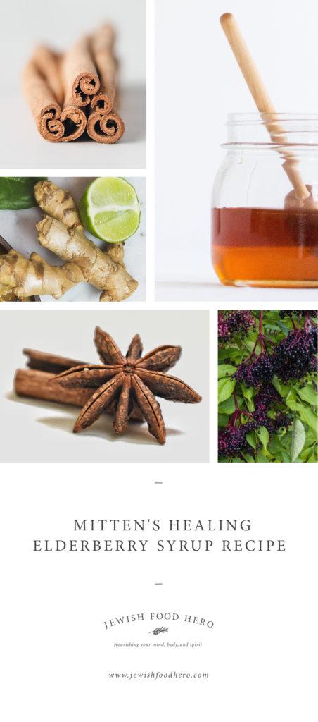 Ginger, honey, cloves and elderberries