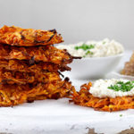Crispy potato pancakes with tofu sour cream