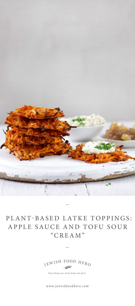 Crispy potato pancakes on wooden cutting board