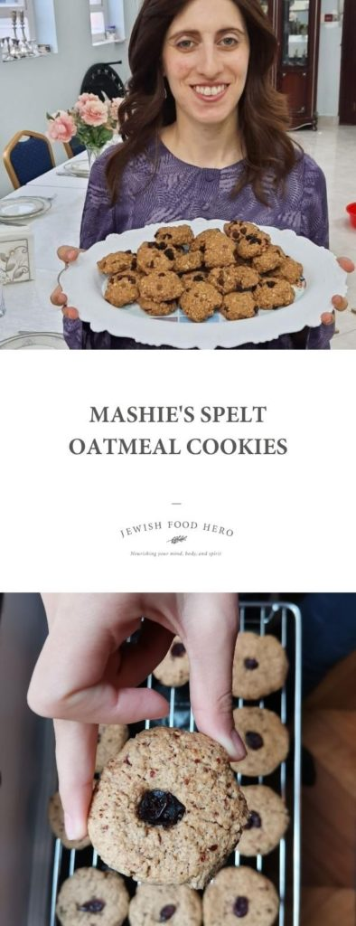 Mashie with her Spelt Oatmeal Cookies