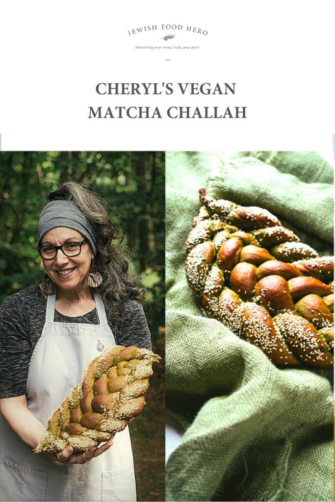 Cheryl's Vegan Matcha Challah