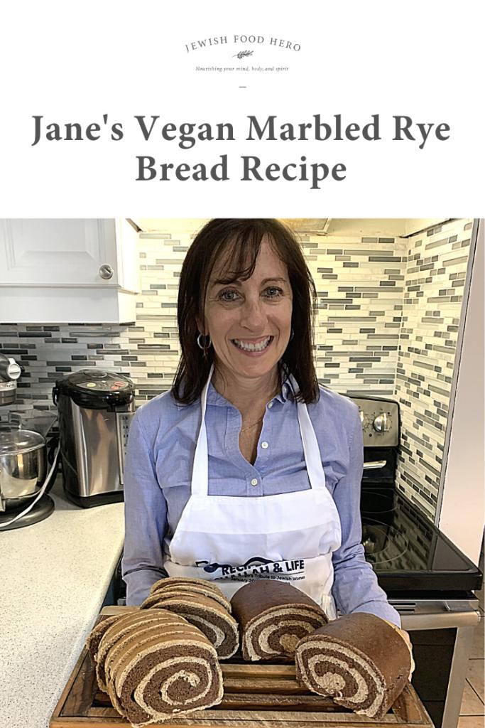Jane's Vegan Marbled Rye Bread