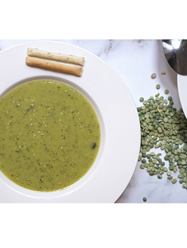 Veggie Boosted Vegan Split Pea Soup Recipe