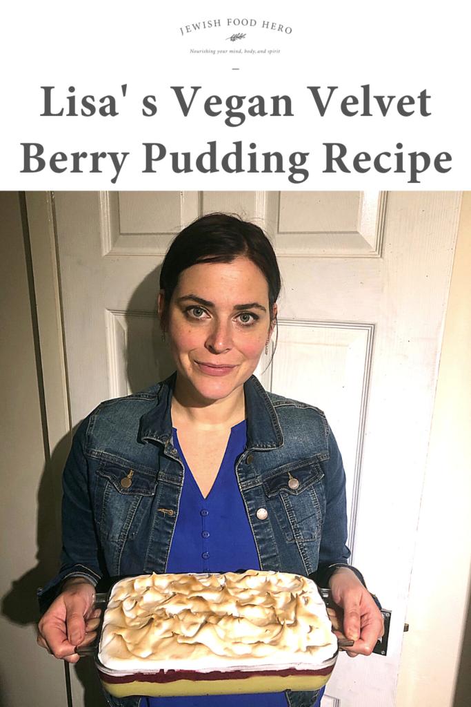 Lisa's Vegan Velvet Berry Pudding